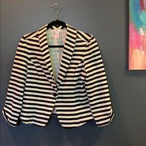 Black & White Striped Blazer, Candie's LARGE